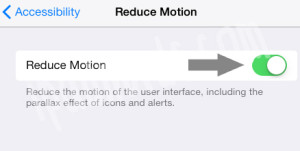 Remove Parallax Effect iOS 7