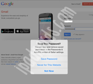 Safari AutoFill Password iOS 7