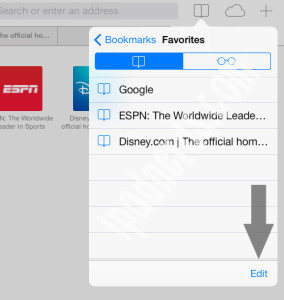 Safari iOS7 Adding, Removing, Setting Up Bookmarks