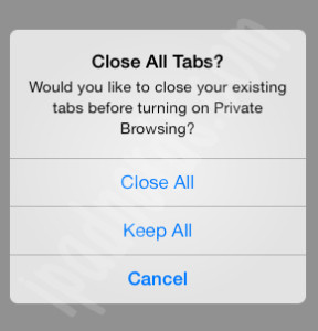 Private Browser iOS 7