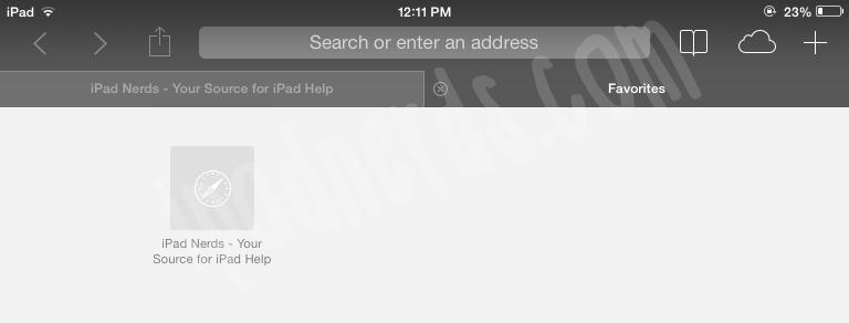 Turning Private Browsing On/Off for Safari - iPad iOS 7 ...