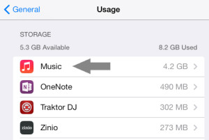 Remove All Music iOS 7