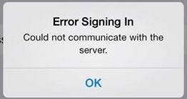 Facebook Error Signing In